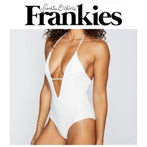 NWT Frankie's Bikinis Lily One Piece - White